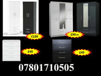 WARDROBE WARDROBES TALLBOY CHESTS BRAND NEW FAST DELIVERY 9047
