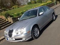 JAGUAR S TYPE 3.0 V6 SE 2002 SALOON IN SHOWROOM CONDITION WITH FULL LEATHER
