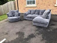 Splash Sale On Brand New Dylan Jumbo Cord Corner & 3+2 Seater Sofa Available In Stock Order Now..
