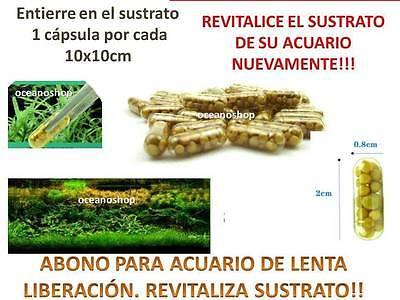 ABONO 15 CAPSULAS lenta liberacion revitaliza SUSTRATO ACUARIO plantas SANAS !!