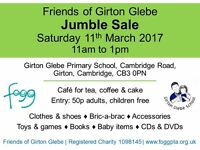 Jumble Sale, Saturday 11th March, 11am to 1pm, Girton Glebe Primary School