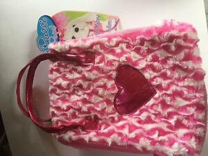 PINK FUZZY CHILDS BAG