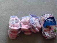 Pink Drynites pyjama pants 4-7 years