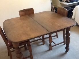 Solid oak Edwardian crank table