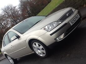 2004 FORD MONDEO 2.0 TDCI GHIA X WITH LOW MILES , LEATHER AND 12 MONTHS WARRANTY INCLUDED