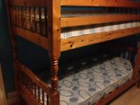 solid pine bunk beds can also be turned into two single beds