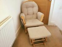 Excellent condition gliding chair and stool