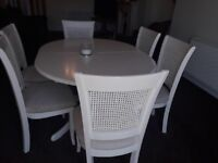 Harvey's cream table with 6 chairs