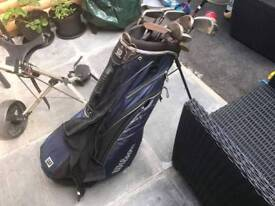 Full set of Wilson fat shaft clubs