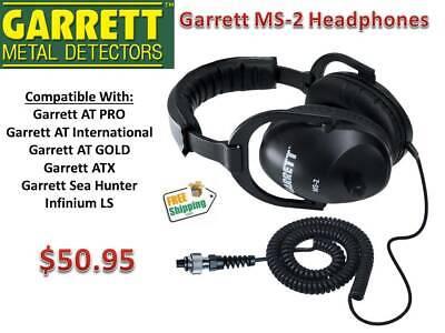 Garrett Ms-2 Metal Detecting Headphones For At Pro Axt At Gold Infinium Ls