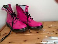 Dr.Martin DM pink high shine boots, UK 7 - never worn