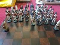 Quality battle of Waterloo chess set