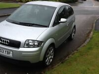 AUDI A2 1.6cc LOW MILES SERVICE HITORY MOTED £750