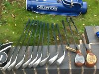 Complete golf set - irons/woods/putter & bag & accessories