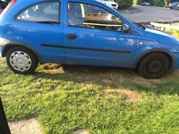 Vauxhall Corsa spares or repair 1.2 comfort Y reg mot 17 INCLUDES PARROT think needs starter motor