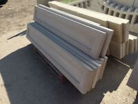 Plain concrete gravel boards / Concrete fencing
