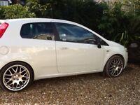 Fiat punto 2009 1.4 gp 16 v , white , 69000 miles 2 owners , mot july2018