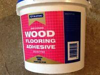 Parquet floor glue.sticks wood concrete ,tiles etc