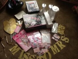 Large bundle of Hen party/Bridal shower games/decorations and supplies.