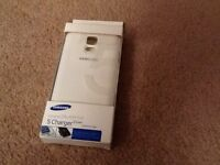 White Samsung Galaxy S 5 charger cover