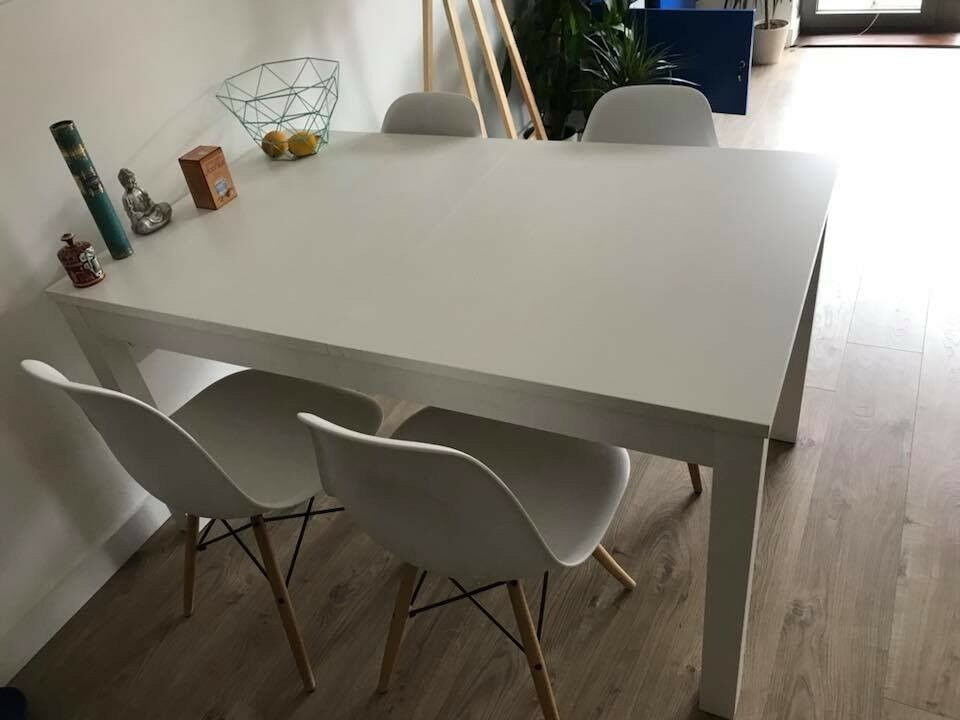 Terrific Table And Or Chairs White Extendable Ikea Ekedalen In Hackney London Gumtree Spiritservingveterans Wood Chair Design Ideas Spiritservingveteransorg