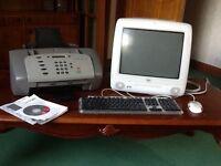Original Apple computer and printer