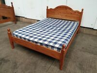 Pine Double Bed Frame Mattress Used Furniture