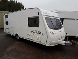 Lunar Quasar 546 6 Berth caravan VGC, FIXED TRIPLE BUNK BEDS, AWNING, Bargain !