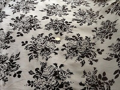 Printed Linen blend fabric