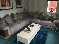 Large Corner Sofa and 3 Matching Footstools