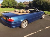 BMW 330CI CONVERTIBLE,ONLY 120K MANUAL BOX,FULL YEARS MOT,MAY TAKE CHEAP P/EX AND CASH