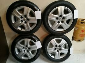 vauxhall Insignia wheels 17in fitted with 2 x Pirelli p7 tyres & 2 Goodyear tyres