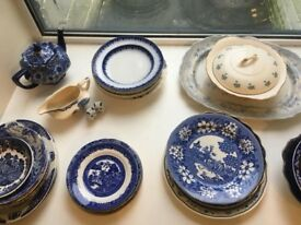 Blue & White China - Mismatched Dinner Wear - 33 pieces
