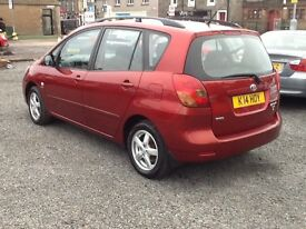 STUNNING--TOYOTA VERSO --LOW MILAGE 67000--FULL SERVICE HISTORY