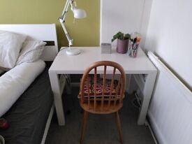 Desk table ikea white adjustable height