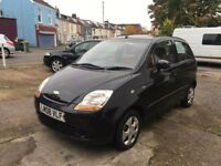 Chevrolet Matiz SE plus 5 door in jet black, 62k brand new mot and fresh service