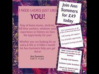 ANN SUMMERS PARTIES/JOBS AVAILABLE - Sudbury Suffolk Area