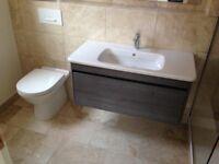 Marble bathroom floor and wall tiles