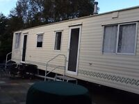 Static holiday caravan 35' x 12' excellent condition sighted on North Downs, Kent, Nr Faversham