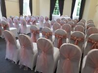 Chair covers Centre Pieces 4ft love letters Candy Cart Starlit Backdrops Wedding Arches