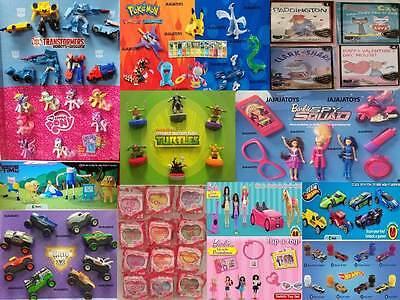McDonald's Toy Sets Hot wheels, little pony, pokemon, sing, barbie + more