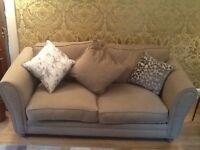 Two nearly new lovely sofas for sale plus cushions