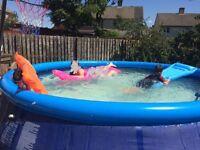 Large pool, 15ft swimming pool.