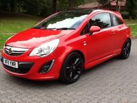 2011 11 VAUXHALL CORSA 1.2i 16V (LIMITED EDITION) VXR LOOK-A-LIKE,46000 MILES,LOW INSURANCE !!!,FSH.