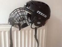 Ice hockey junior helmet