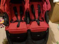 Double stroller britax unisex red