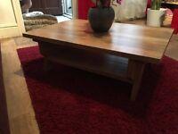 New solid oak caffe table,handmade