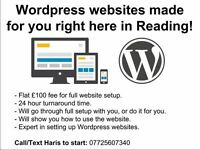 Wordpress websites made for £100 right here in Reading!