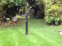 Cast iron garden water pump ornament