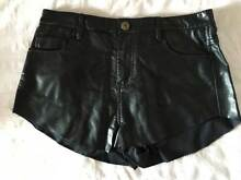 Black High Wasted Leather Shorts Kyneton Macedon Ranges Preview